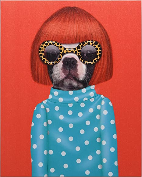 Empire Art Direct Pets Rock Big Doggie Graphic Wrapped Dog Canvas Wall Art 20 x 16 x 2 Ready to Hang,