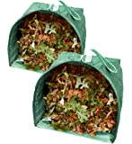 Fern and Foliage Lawn and Leaf Bags (2) Reusable Garden Bags - Collapsible Yard Waste Bags and Debris Container - 53 Gallons per Bag