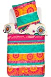 Desigual 57DL0D3 adorno Blossom Bed funda nórdica 155 X 220 cm de almohada 80 x 80 cm 1 persona multicolor