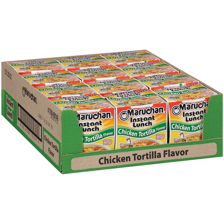 Maruchan Instant Lunch Chicken Tortilla, 2.25 Oz, Pack of 12