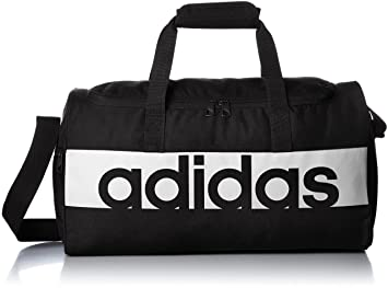 e78d89ab34f adidas Linear Performance Duffel Bag XS - Black/Black/White, 15 x 37