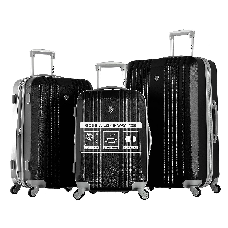 Amazon.com | Olympia Corsair 3Pc Hardcase Set, Black, One Size ...