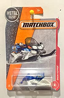 Matchbox 2017 MBX Heroic Rescue Snow Ripper (Snow Mobile) 73/125, Blue