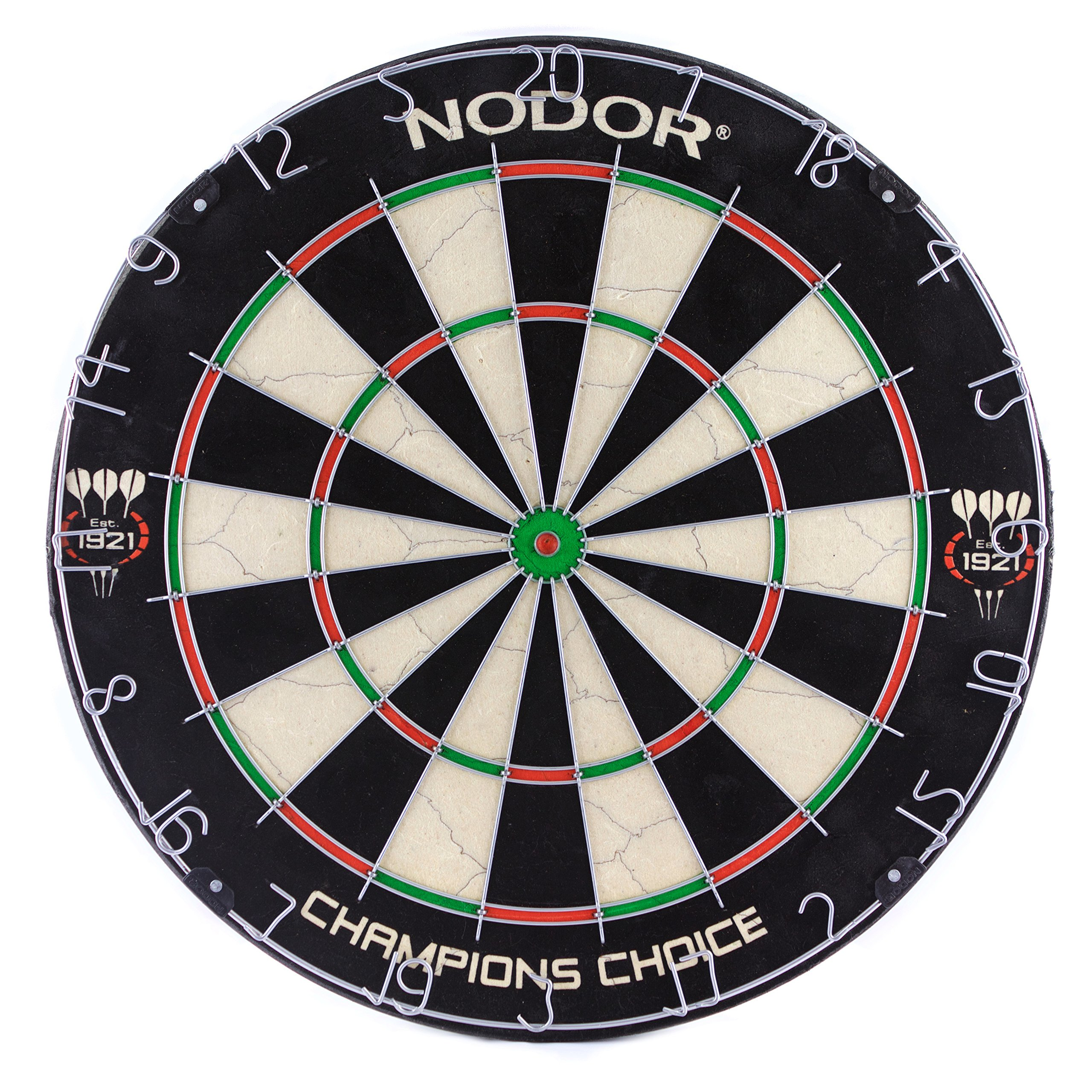 Nodor Champion's Choice Practice Sef-Adhesive Bristle Dartboard - Used by Pro Dart Throwers to Enhance Their Skills