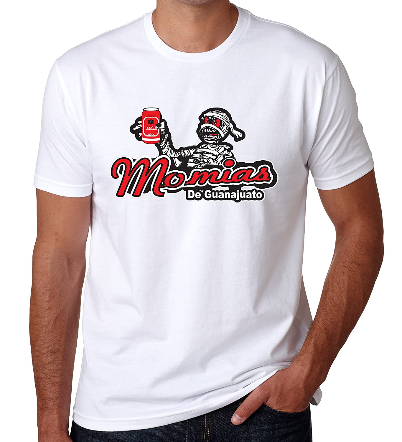 Momias de Guanajuato Baseball Mens T-Shirt Crew Neck 100% Cotton at Amazon Mens Clothing store: