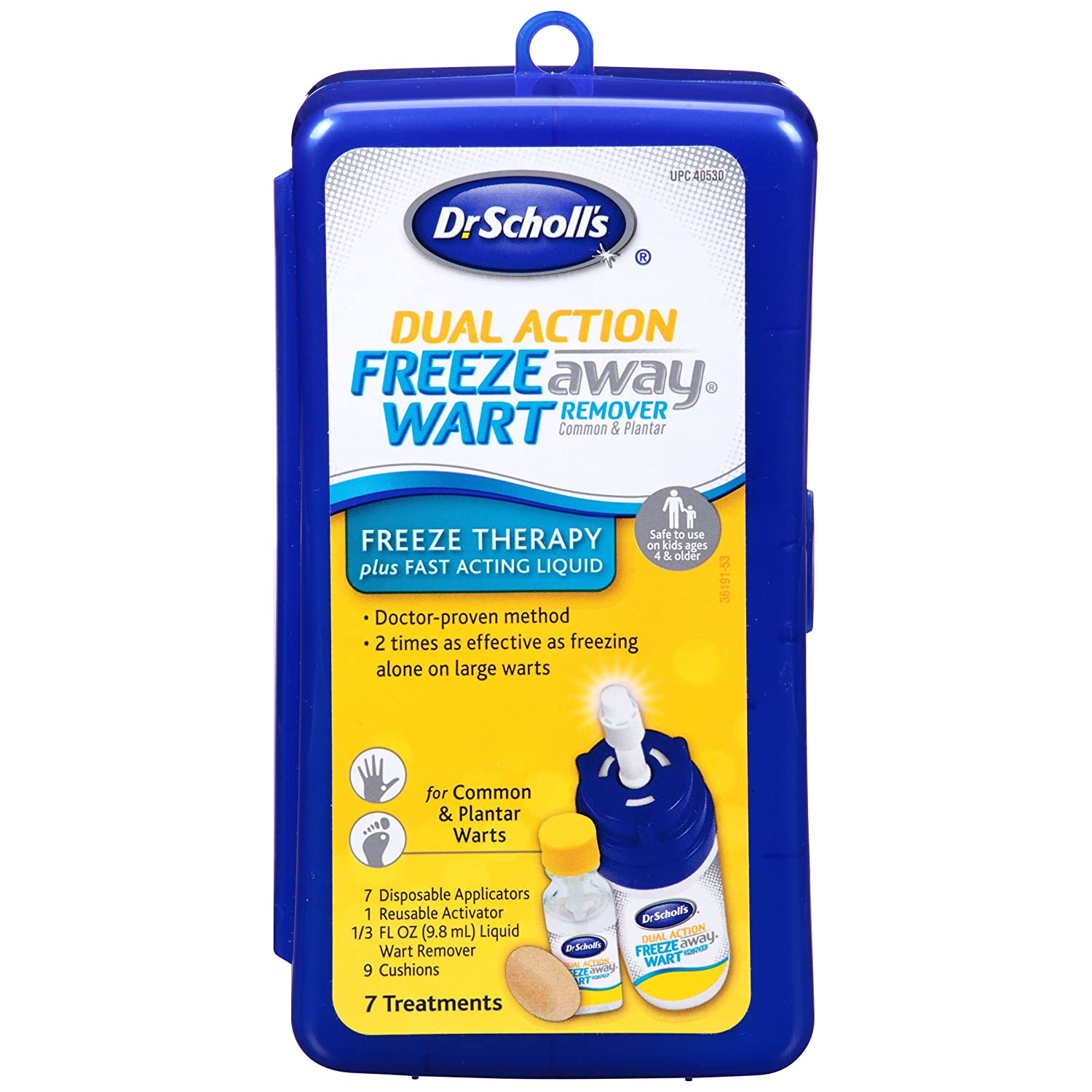 Dr  Scholl's FreezeAway Wart Remover DUAL ACTION, 7 Applications // Freeze  Therapy + Powerful