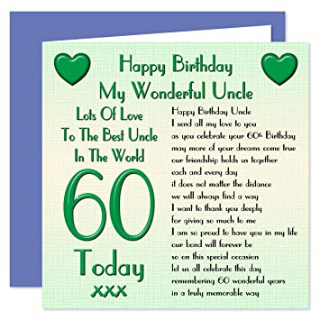 Uncle 60th Happy Birthday Card