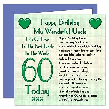 Uncle 60th Happy Birthday Card