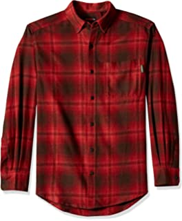 3efeb0a358 Amazon.com  Wolverine Men s Rogan Long Sleeve Flannel Shirt  Clothing
