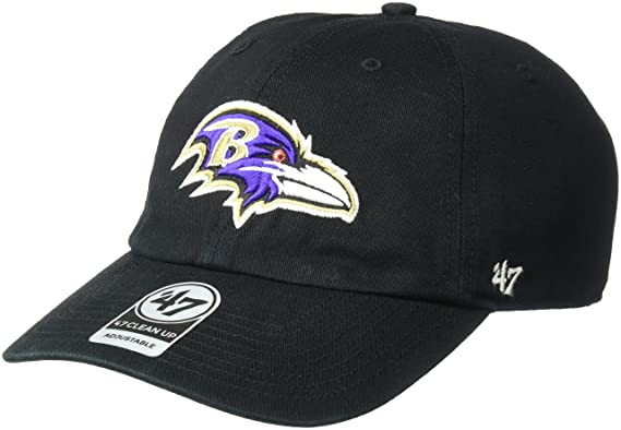 e3dfb738 NFL Baltimore Ravens '47 Clean Up Adjustable Hat, Black, One Size