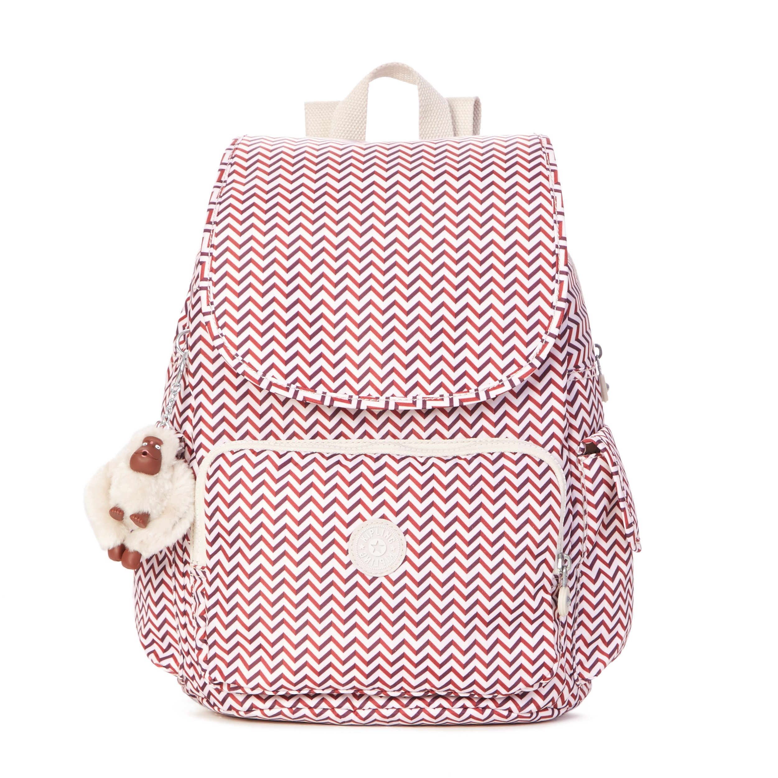 Kipling Women's Ravier Medium Solid Backpack, Zest Red by Kipling