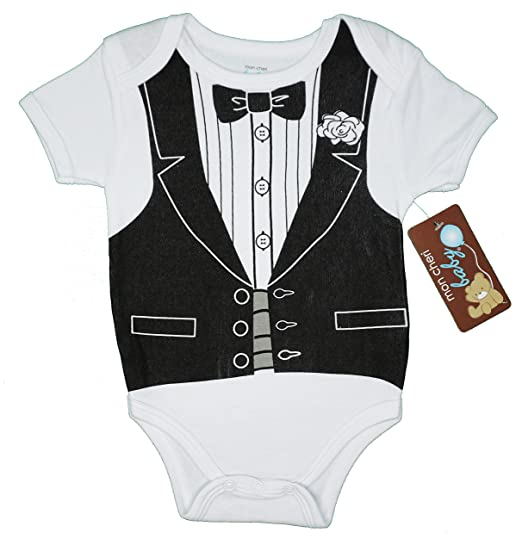 6c5d4c2ec Mon Cheri Baby The Formal Tuxedo Funny Baby Boy Girl Unisex Novelty Costume  One Piece Infant