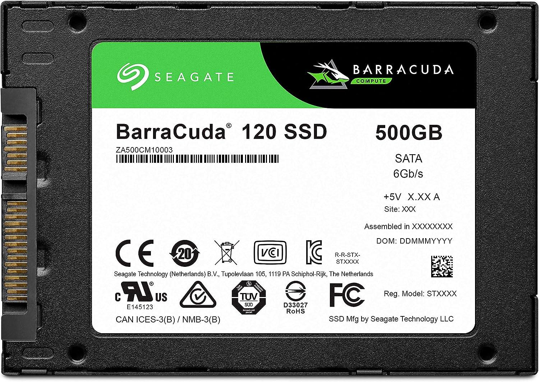 Seagate Barracuda 120 SSD 500GB Internal Solid State Drive – 2.5 Inch SATA 6GB/S for Computer Desktop PC Laptop (ZA500CM10003)