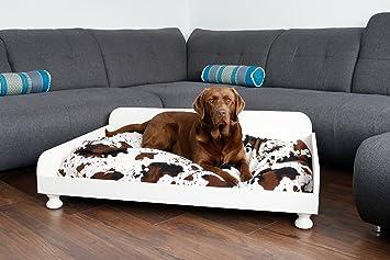 Cama para perros XXL Madera 115 x 75 cm Wood Passion Color Crema Dormir Espacio rústico perro Sofá Camilla Espacio cesta wohnliches Diseño: Amazon.es: ...
