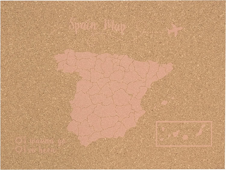 Decowood - Mapa de Corcho España, Grande, para Marcar Tus Viajes y ...