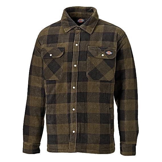 Dickies Mens Padded Long Sleeve Portland Lumberjack Work Shirt (S) (Khaki) a38cbc3d8