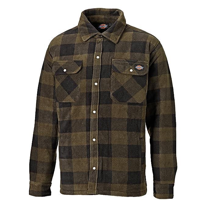 7778dca798 Dickies Mens Padded Long Sleeve Portland Lumberjack Work Shirt  Amazon.co.uk   Clothing
