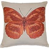 Flutterby Terracotta 45cmX45cm Woven Zipped Cushion cover