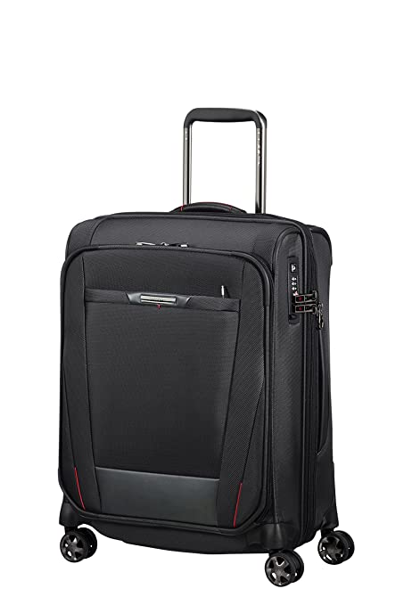 cd51590a85 SAMSONITE PRO-DLX 5 - Spinner 55 cm Expandable 40.5/51.5 L 3.2 KG Hand  Luggage, 51.5 liters, Black: Amazon.co.uk: Luggage