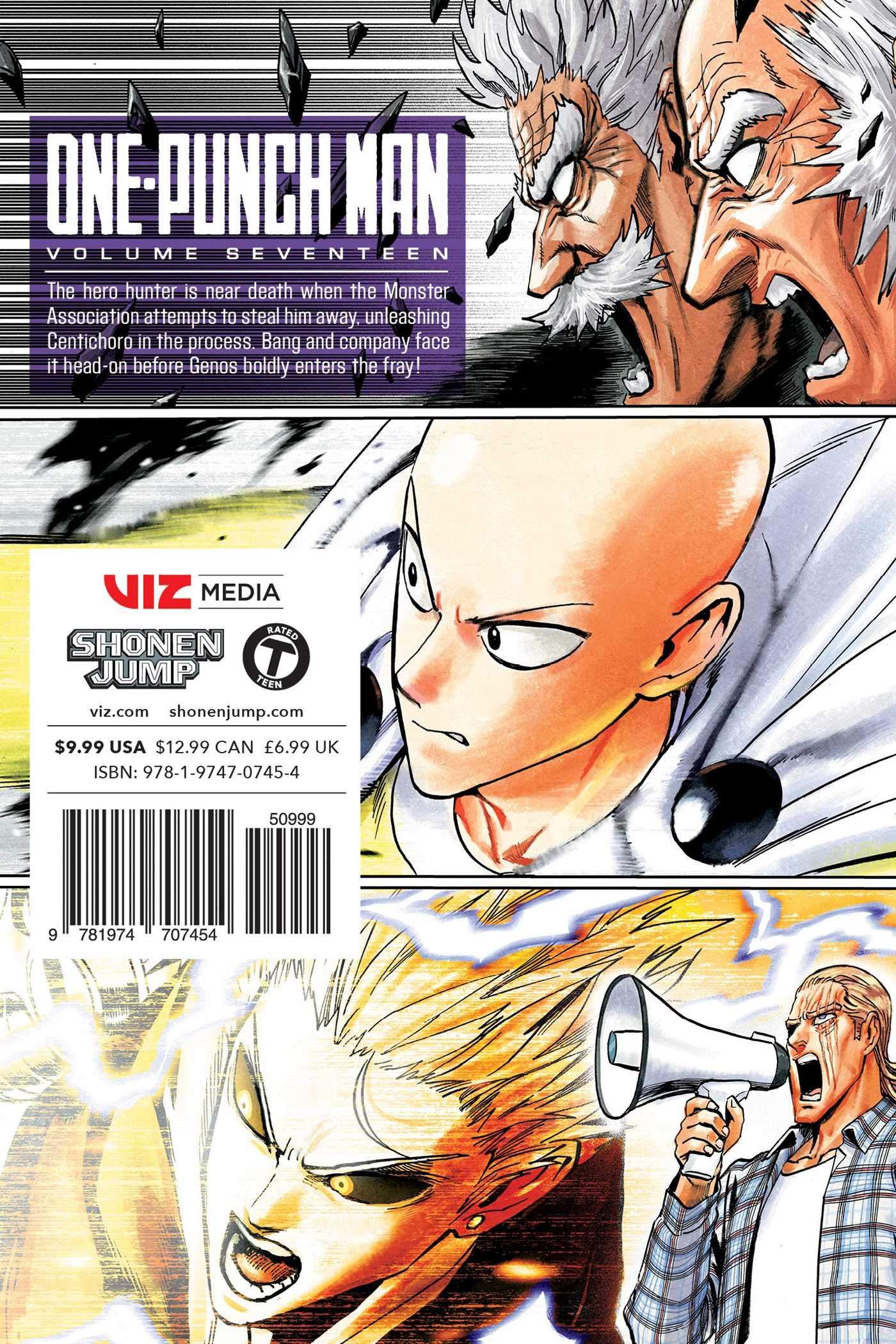 Amazon com: One-Punch Man, Vol  17 (17) (9781974707454): ONE