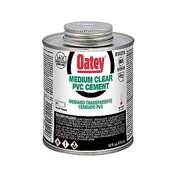 Oatey 31019 PVC Medium Cement, Clear, 16-Ounce