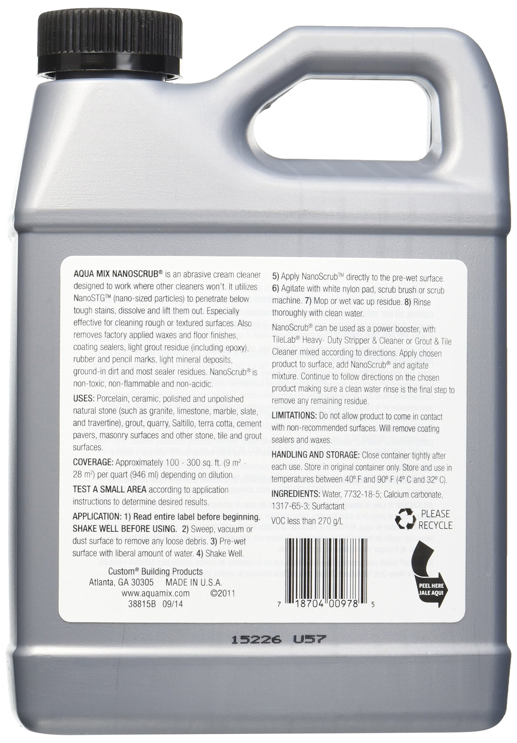 Aqua Mix Nanoscrub Powerful Abrasive Cleaner Quart 32 oz