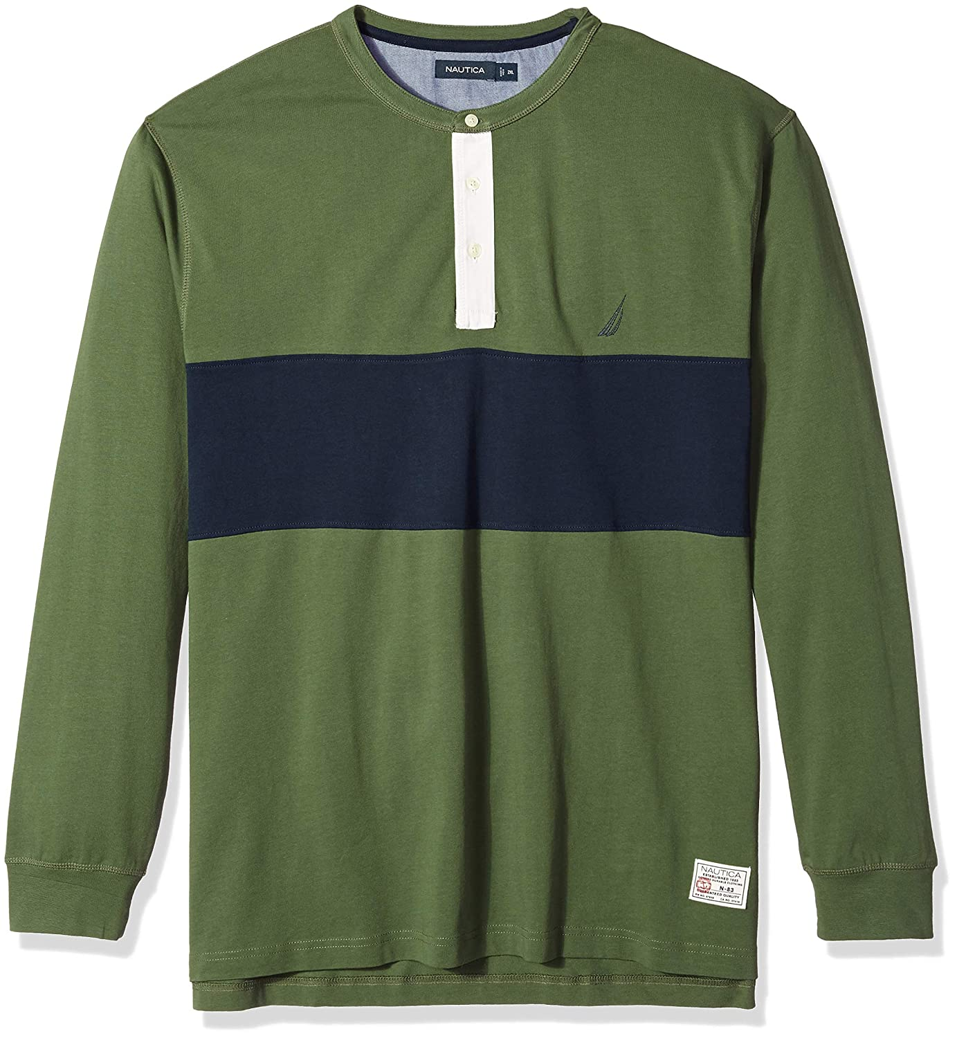 Pine Forest grand Haut Nautica Homme Z83104 Manches Longues Polo