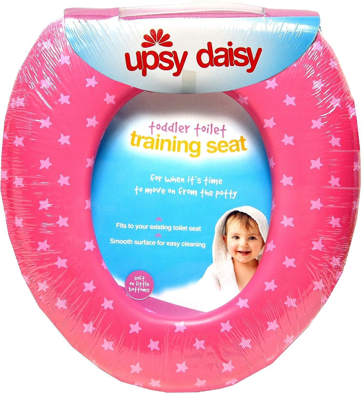 9.2 x 7.8 Inch Acolchado, con Licencia Oficial Asiento de Inodoro para ni/ños L 23.5cm X W20cm OTL Upsy Daisy Rosado