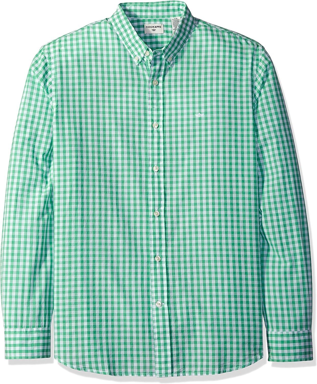 Dockers Camisa de manga larga con botones frontales para ...