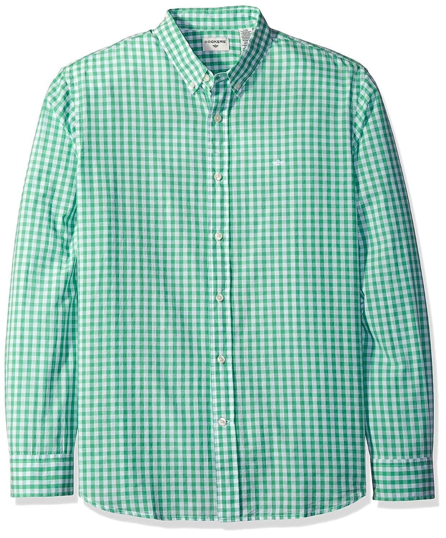Dockers Mens Beached Poplin Long Sleeve Button-Front Shirt