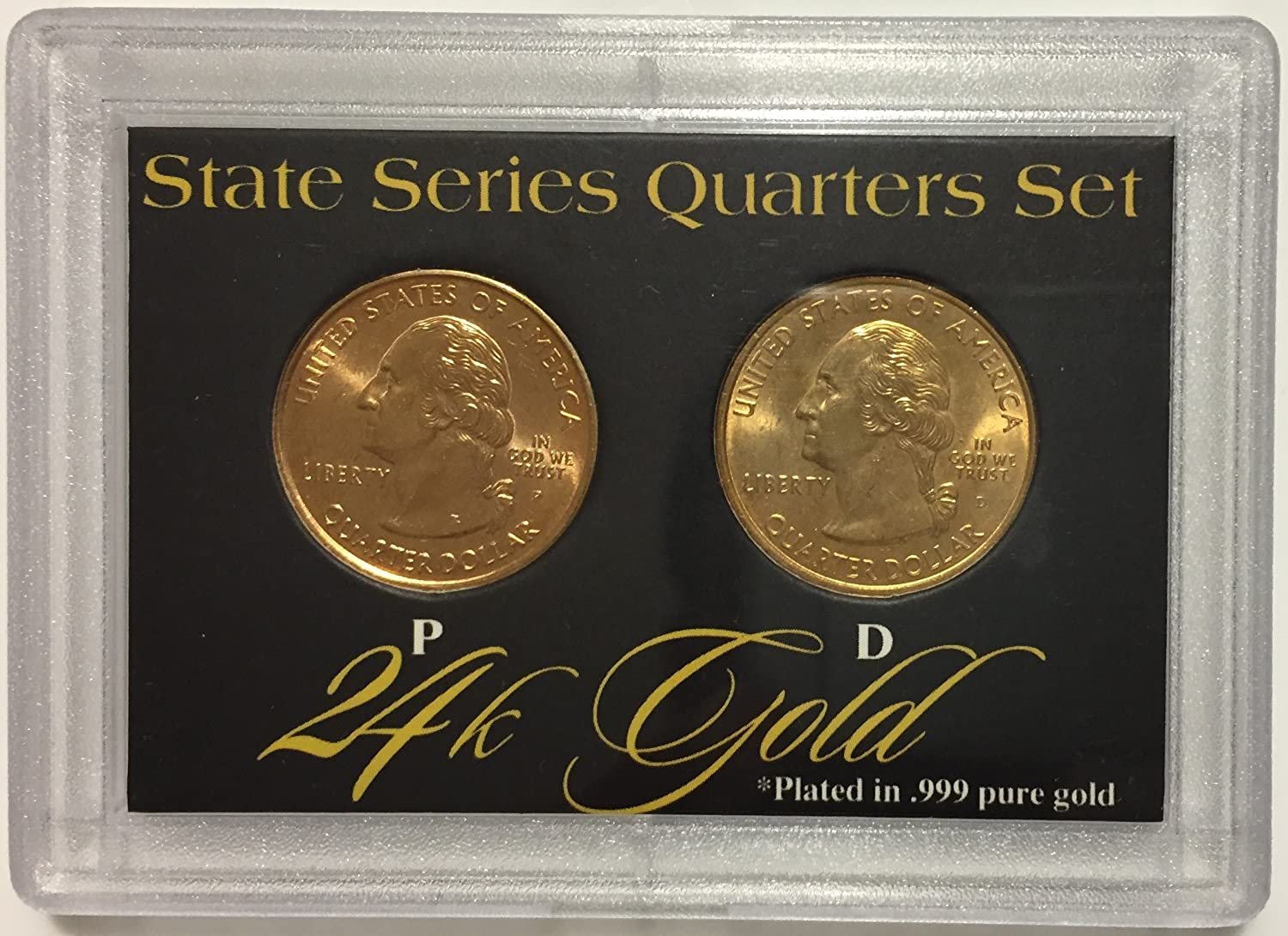 Amazon.com 24K .999% PURE GOLD PLATED STATE SERIES QUARTERS SET Toys u0026 Games & Amazon.com: 24K .999% PURE GOLD PLATED STATE SERIES QUARTERS SET ...