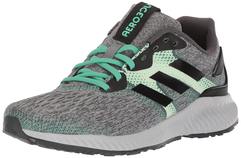 adidas Women's Aerobounce W Running Shoe B071Z87BL8 5 B(M) US|Core Black/Aero Green/Hi-res Green