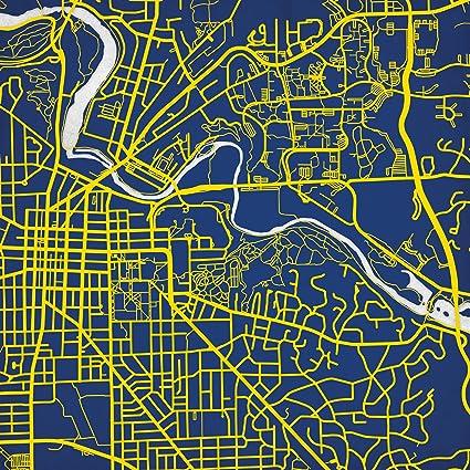 University Michigan Campus Map.Amazon Com University Of Michigan Campus Map Art 24 Wood Art