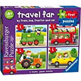 Ravensburger 7303 Travel Far My First Puzzle 2 3 4 5pc,Children's Puzzles
