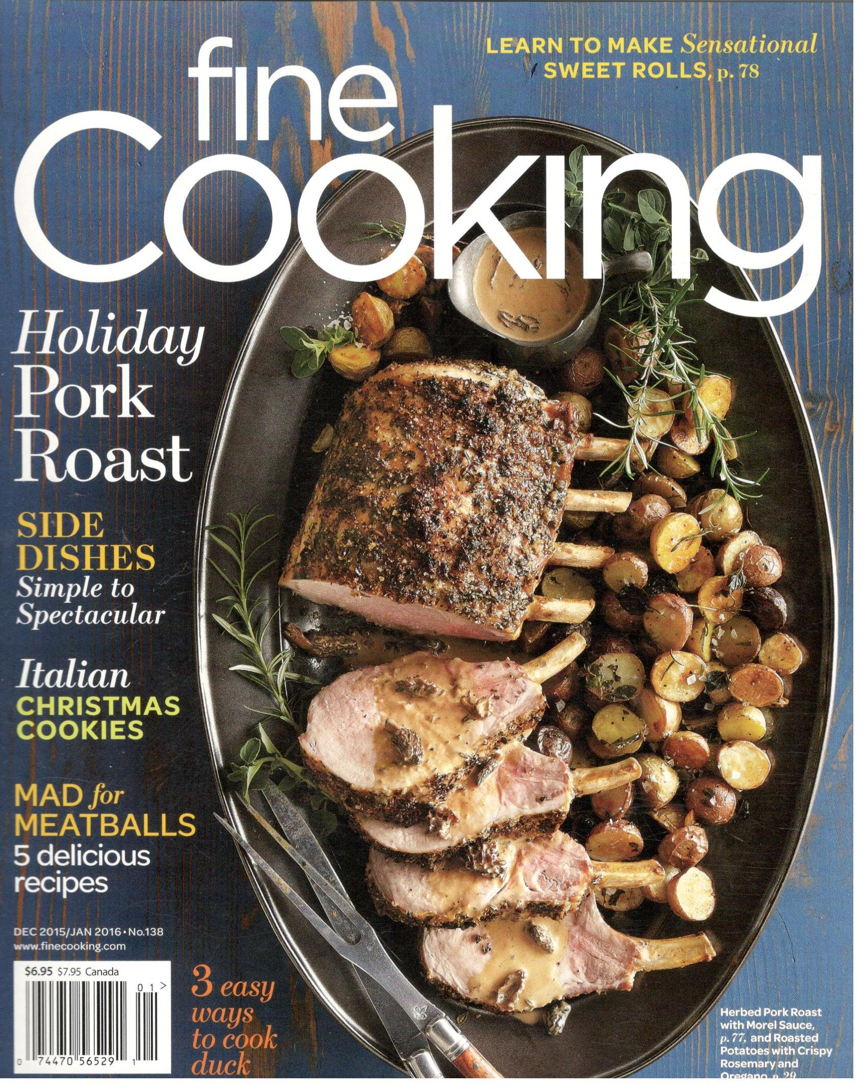 Fine Cooking Magazine January 2016 Various Amazon Com Books