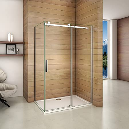 1200x760mm Frameless Sliding Shower Enclosure 6mm Safety Glass ...
