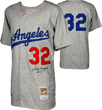 Sandy Koufax Brooklyn Dodgers Autographed Mitchell and Ness 1963 ... 978a0f965b8