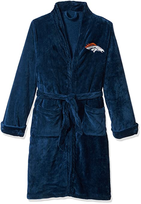 The Northwest Company Officially Licensed NFL Denver Broncos Men s Silk  Touch Lounge Robe 4b7ac80e4