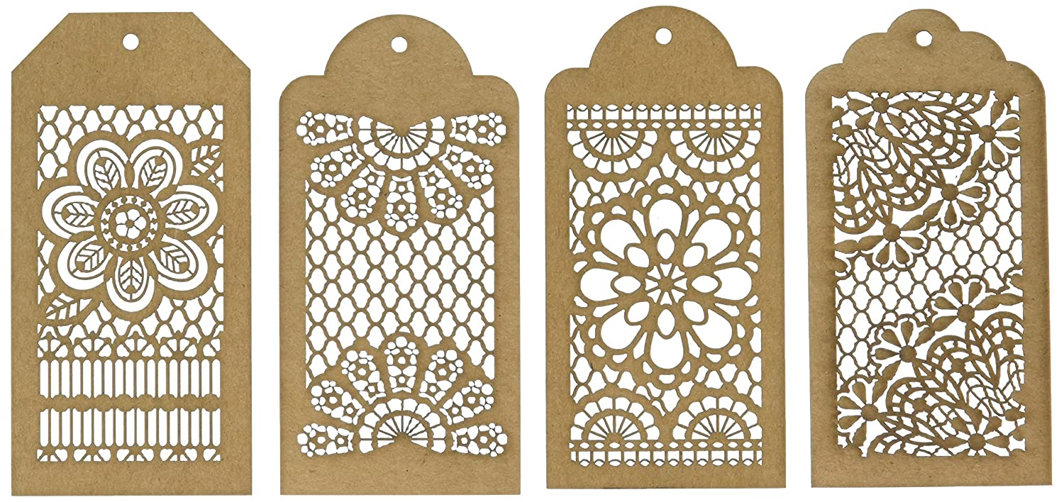 Bo Bunny Lace Tags Laser-Cut Chipboard, 3.5 x 9 BBC-15840