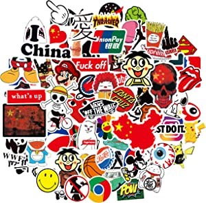 Cool Stickers, Trendy Sticker Decals for Teens, Water Bottles Laptop Motorcycle Bicycle Skateboard Luggage Decal Graffiti Patches (100pcs)