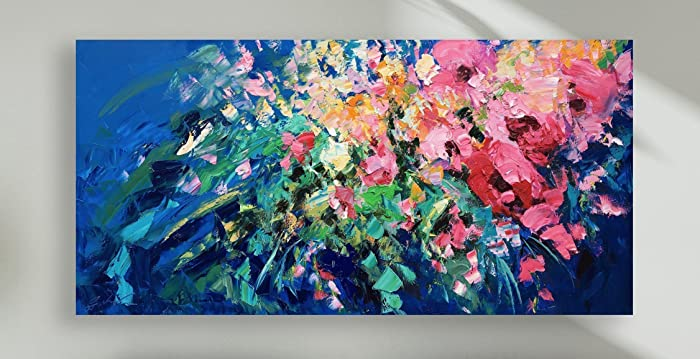 Abstract Roses Prints Large Flowers Wall Art Modern Floral Artwork House  Canvas Decoration Home Decor Living Room Bedroom Office Gifts Women Mother  Friends ... 7f1d3cc2fa