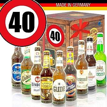 Geschenk Ideen zum 40. für Männer - Bier Geschenk + Geschenkset 40ter