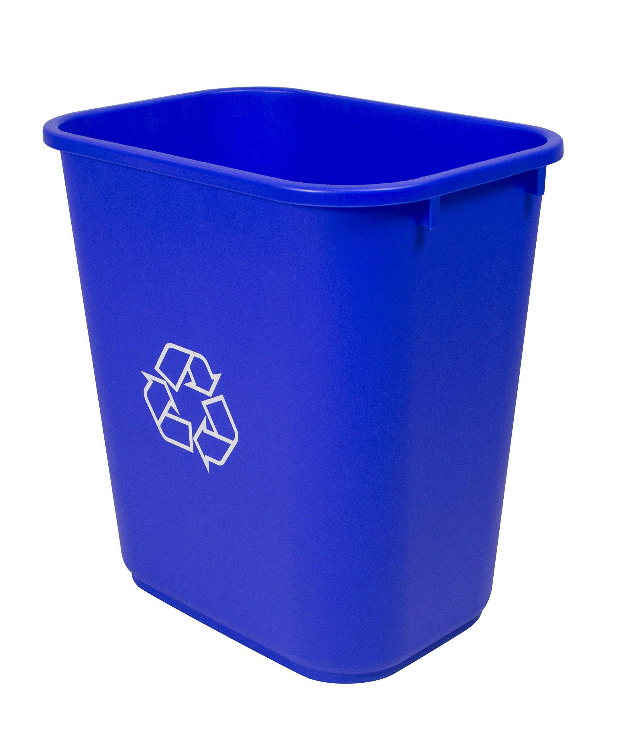 Storex Medium Recycling Basket, 15 x 10.5 x 15 Inches, Blue, (STX00714U01C)