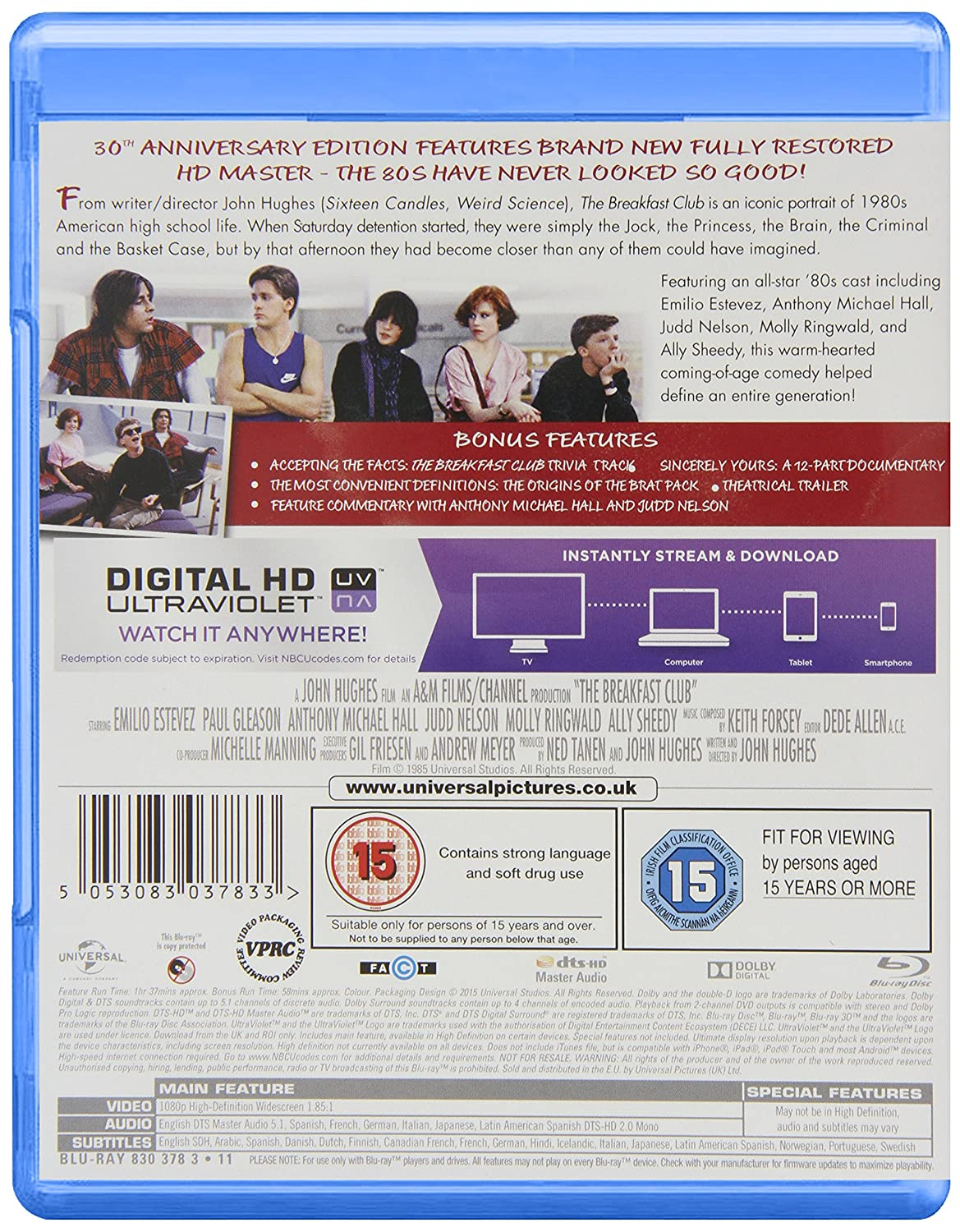 the breakfast club essay page png awsaccesskeyid akiaiaywevoldtia  breakfast club th anniversary edition blu ray uv copy breakfast club 30th anniversary edition blu ray