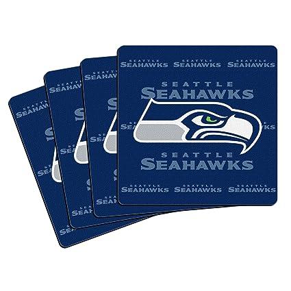 Amazon.com: NFL Seattle Seahawks en caja Posavasos de ...