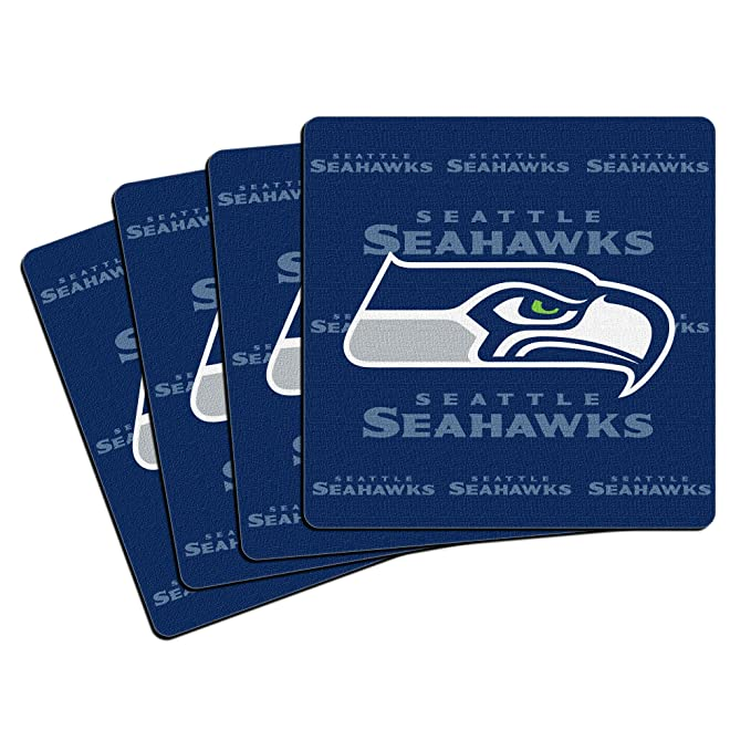 Amazon.com: NFL Seattle Seahawks en caja Posavasos de ...