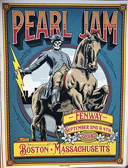 Image result for pearl jam fenway 2018 poster williams