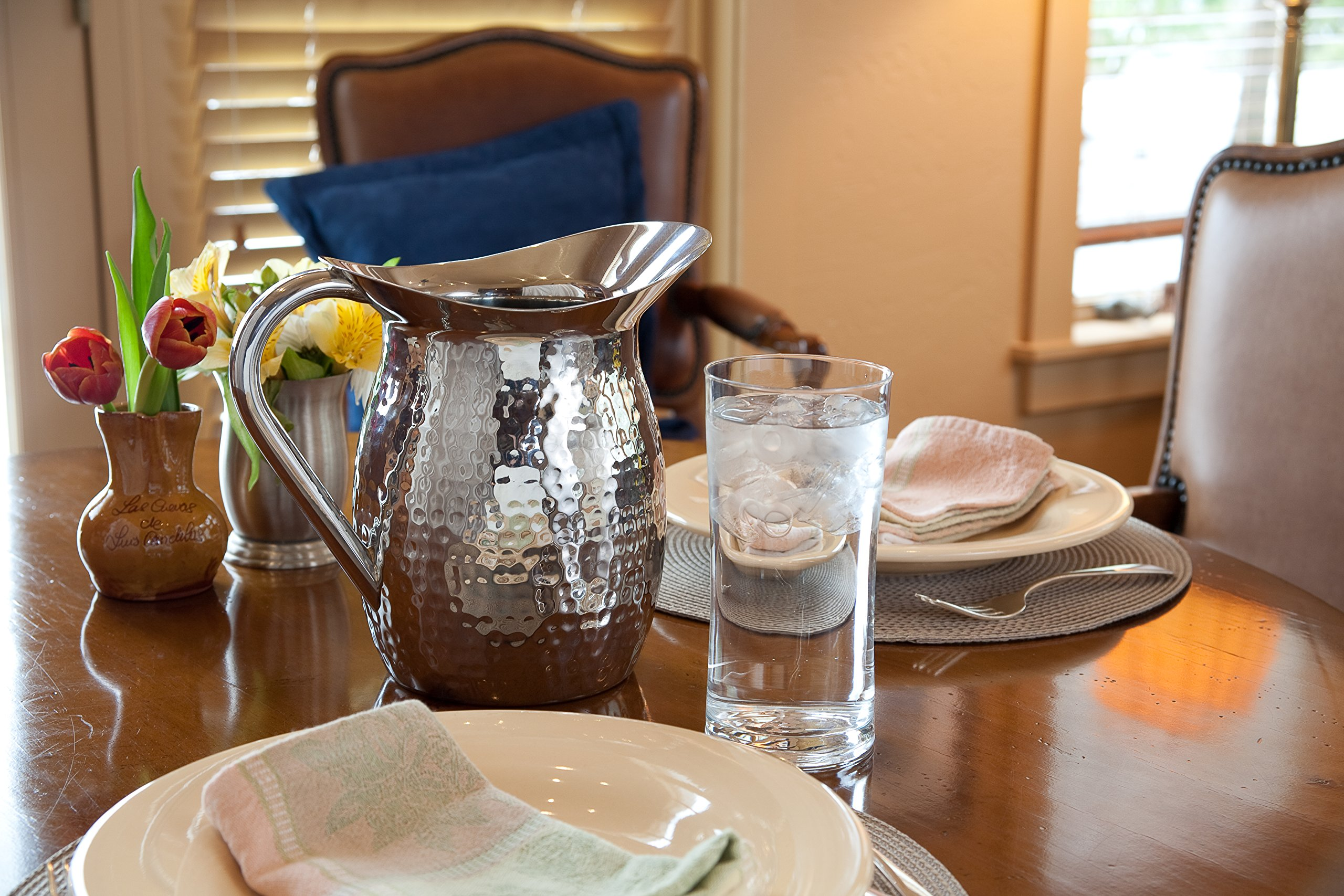 Artisan 2-Quart Double-Wall, Stainless Steel Insulated Serving Pitcher with Hammered Texture by Artisan (Image #3)