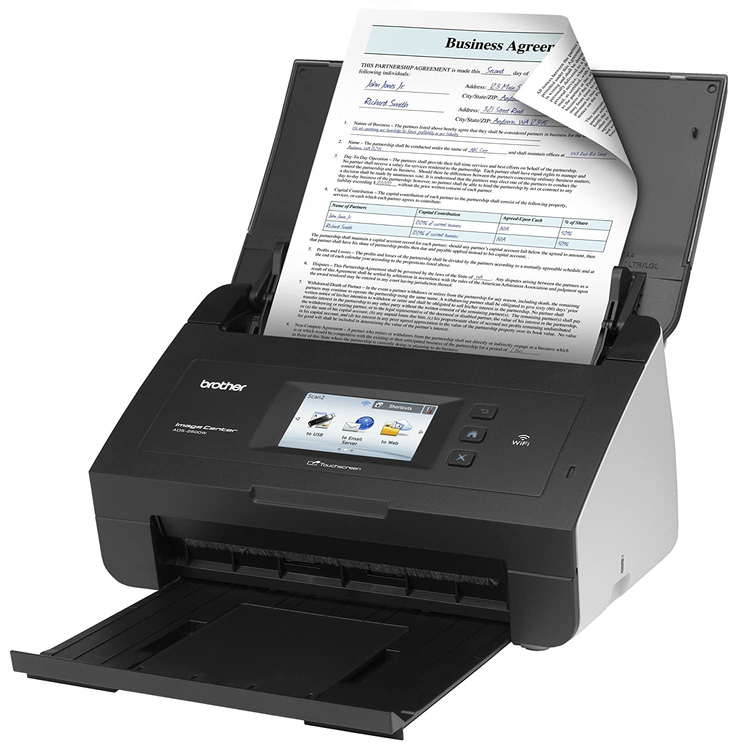 brother ads2500w document scanner electronics