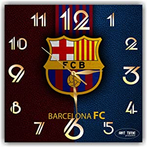 "TimeTurnersClock Barcelona FC 11,4"" Football Soccer Handmade Wall Clock"